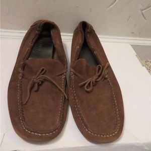 J.CREW BROWN SUEDE LOAFERS SIZE 11 1/2
